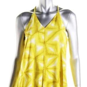 Calvin Klein Yellow Chiffon Halter Dress